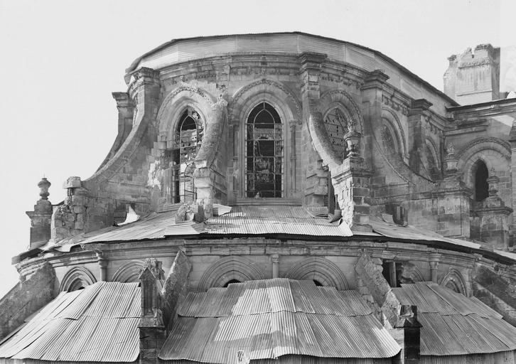 Eglise Notre-Dame (ancienne cathédrale) Abside, partie supérieure, Service photographique,