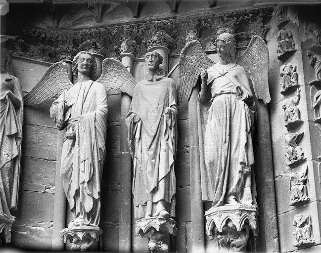 Cathédrale Notre-Dame Portail ouest, porte nord, ébrasement gauche, Lajoie, Abel,