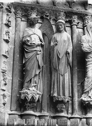 Cathédrale Notre-Dame Portail ouest, L'Annonciation, Lajoie, Abel,