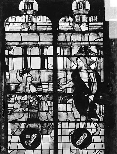 Eglise Saint-Etienne-du-Mont Vitrail, baie C : vie du Christ, Leprévost (photographe),