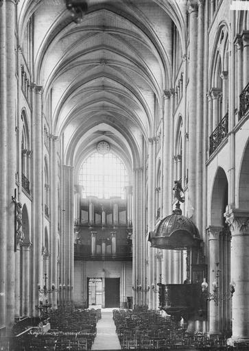 Eglise Notre-Dame/Cathédrale (ancienne) Nef, vue du choeur, Durand, Eugène (photographe),