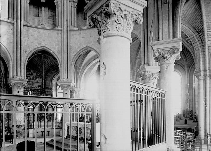 Abbaye Saint-Nicolas (ancienne) Eglise. Déambulatoire, Enlart, Camille (historien),