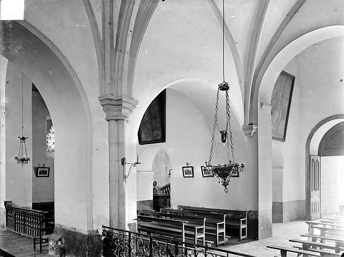 Eglise Notre-Dame de Mouthier-le-Vieillard Vue intérieure de la nef : Grandes arcades côté sud-ouest, Gossin (photographe),