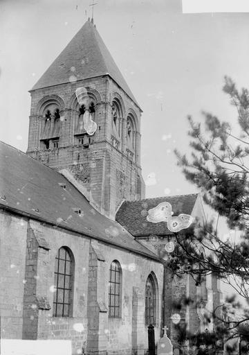 Eglise Clocher, Durand, Georges (photographe à Amiens),