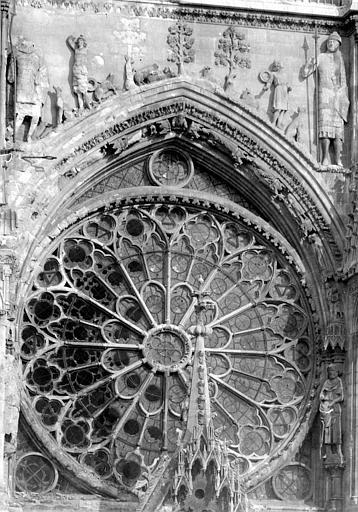 Cathédrale Notre-Dame Façade ouest : Rose, Sainsaulieu, Max (photographe),