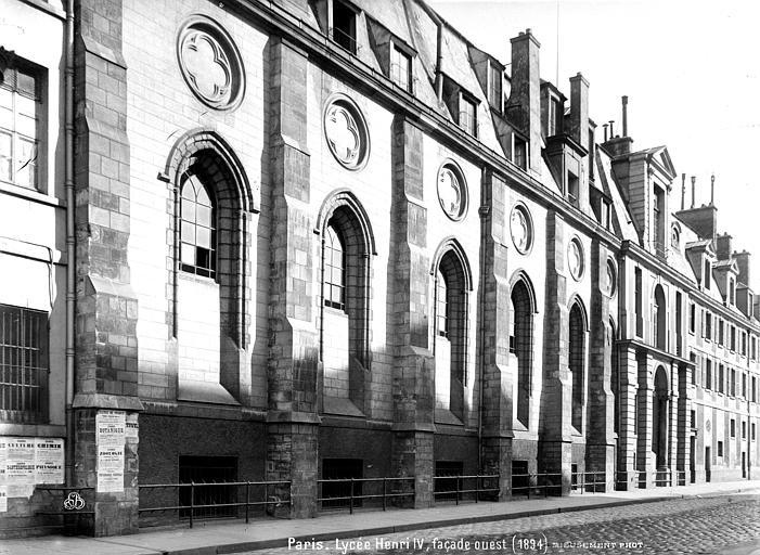Abbaye Sainte-Geneviève (ancienne), actuellement lycée Henri IV Façade ouest, Mieusement, Médéric (photographe),