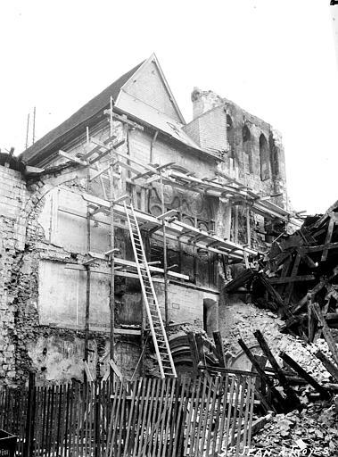 Eglise Clocher écroulé, étais, Louzier (photographe),