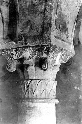 Cathédrale Notre-Dame Crypte , chapiteau : crosses et décor feuillagé stylisé, Mieusement, Médéric (photographe),