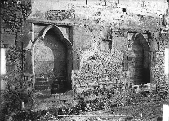 Couvent des Jacobins (vestiges de l'ancien) Niches, Verneau, G.,