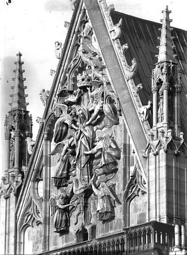 Cathédrale Notre-Dame Pignon du bras sud du transept, l'Assomption, Lajoie, Abel,