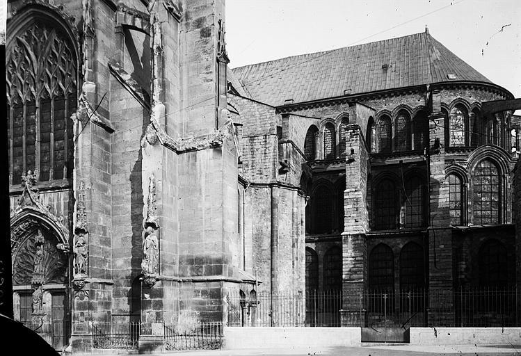 Basilique Saint-Remi Abside au sud, Enlart, Camille (historien),