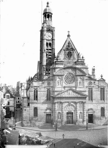 Eglise Saint-Etienne-du-Mont Façade ouest, Marville, Charles (photographe),