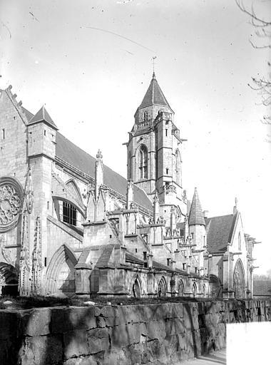 Eglise de Saint-Etienne-le-Vieux (ancienne) Façade sud en perspective, Heuzé, Henri (photographe),