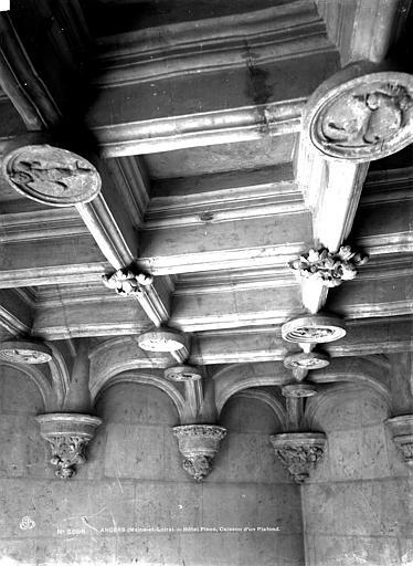 Hôtel Pincé Salle : Plafond à caissons, Berthault (photographe),