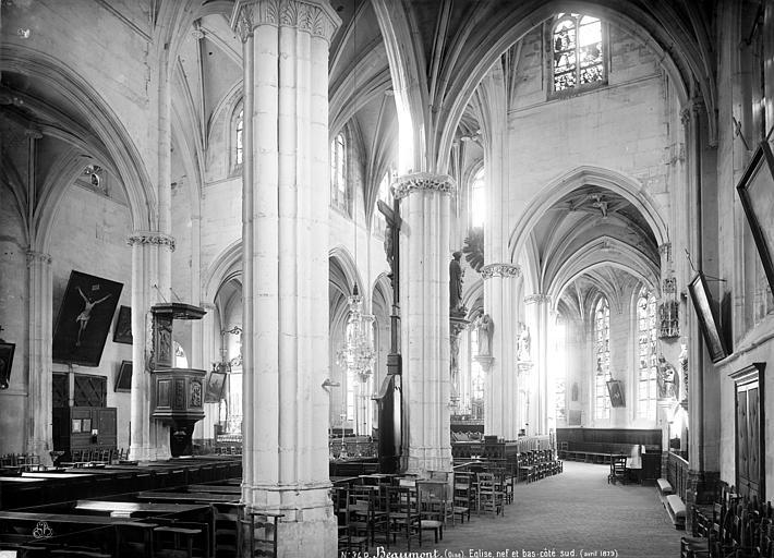 Abbaye de Marcheroux (ancienne) Eglise : nef et bas-côté sud, Mieusement, Médéric (photographe),