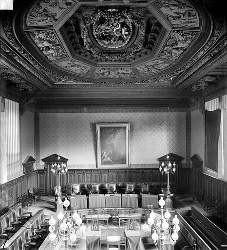 Palais de Justice Salle des Assises : Vue d'ensemble, Delaunay (photographe),