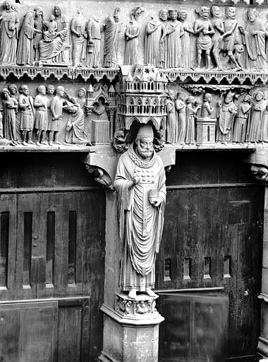 Cathédrale Notre-Dame Portail nord, portail de saint Sixte, statue de saint Sixte, Lajoie, Abel,