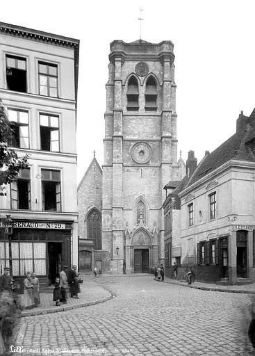 Fort Saint-Sauveur (ancien) Chapelle : Façade ouest et clocher, Robert, Paul (photographe),