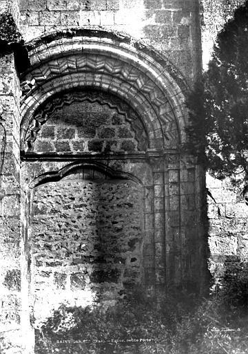 Eglise abbatiale Petite porte murée, côté sud, Le Secq, Henri (photographe),