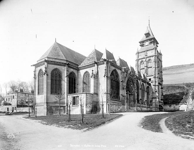 Eglise Saint-Ouen de Longpaon Ensemble nord-est, Neurdein Frères (photographes),