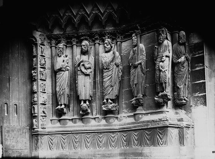 Cathédrale Notre-Dame Portail ouest, porte de droite, ébrasement droit, Lajoie, Abel,
