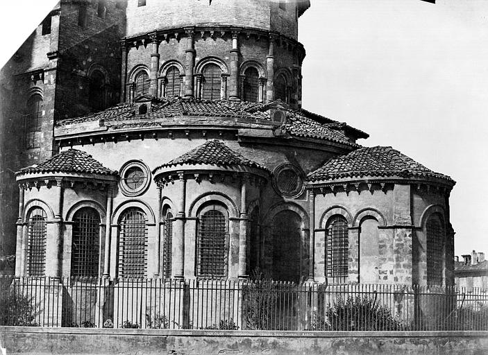 Eglise Saint-Sernin Abside, Le Gray, Gustave ; Mestral, Auguste (photographe),