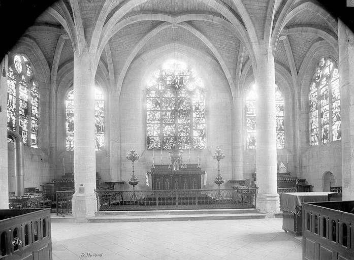 Eglise Vue intérieure du choeur, Durand, Jean-Eugène (photographe),