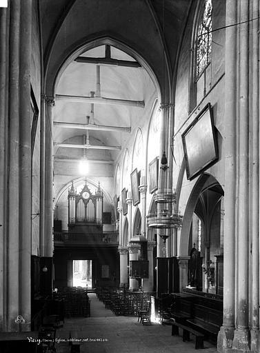 Eglise Saint-Germain Nef, vue du choeur, Durand, Eugène (photographe),