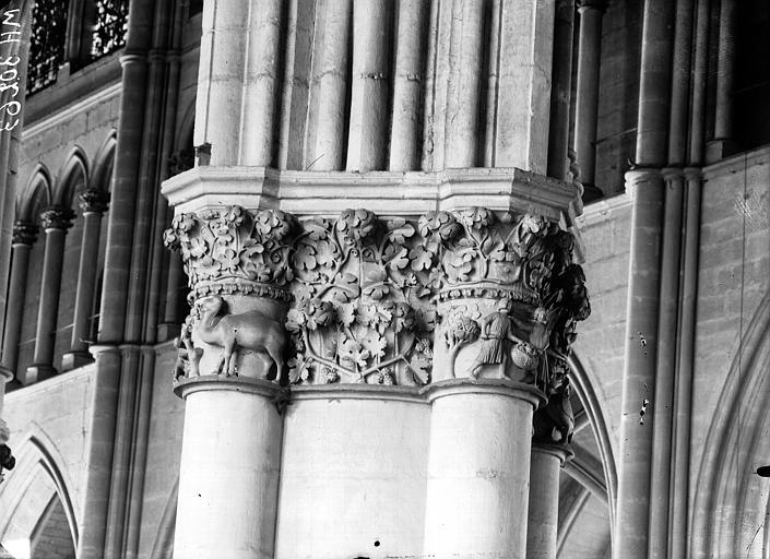 Cathédrale Notre-Dame Chapiteau de la nef, les vendangeurs, Lajoie, Abel,