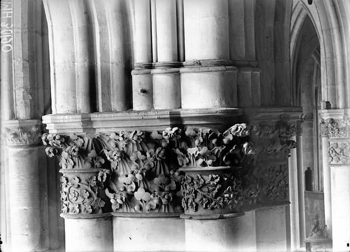 Cathédrale Notre-Dame Chapiteau du deuxième pilier de la chapelle absidiale, Lajoie, Abel,