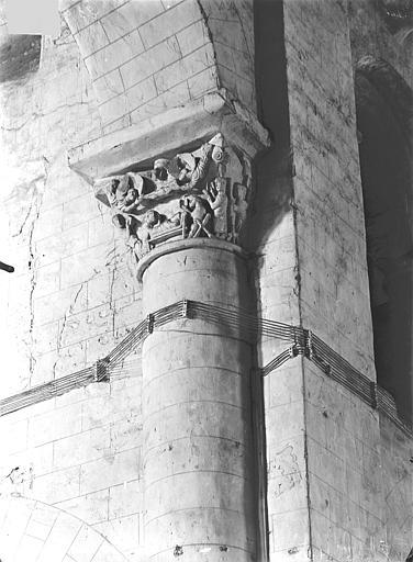Eglise Saint-Hilaire-le-Grand Chapiteaux : Mort de saint Hilaire et ascension de son âme au ciel, Gossin (photographe),