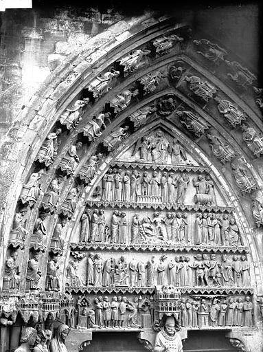 Cathédrale Notre-Dame Portail nord, portail de saint Sixte, tympan, Lajoie, Abel,