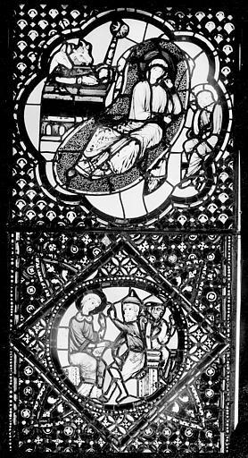 Cathédrale Saint-Jean Vitrail : Nativité. Christ enseignant au Temple, ,