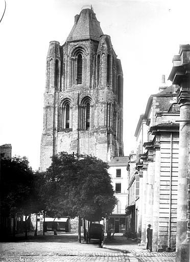 Abbaye Saint-Aubin (ancienne) Tour du clocher, Carlier (photographe),