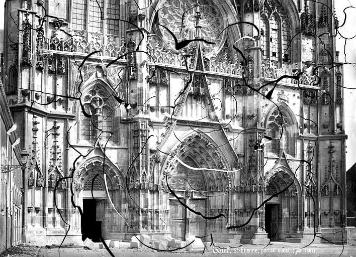 Cathédrale Saint-Etienne (ancienne) Portails de la façade ouest, Mieusement, Médéric (photographe),
