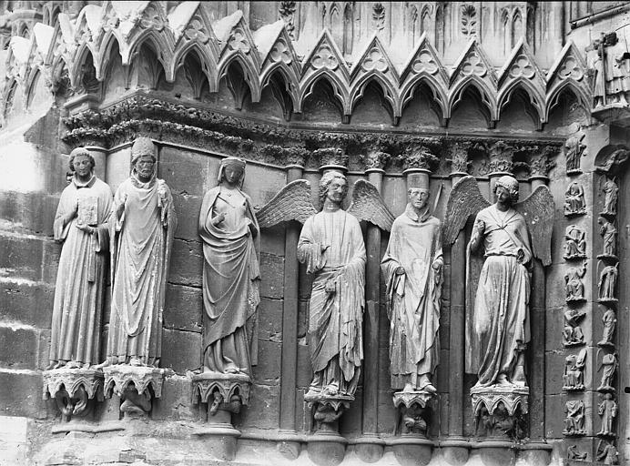 Cathédrale Notre-Dame Portail ouest, porte gauche, ébrasement gauche, Lajoie, Abel,