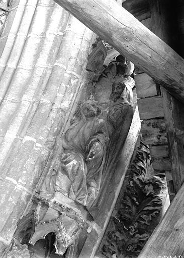Cathédrale Notre-Dame Portail ouest, groupe, David et Bethsabée, Lajoie, Abel,