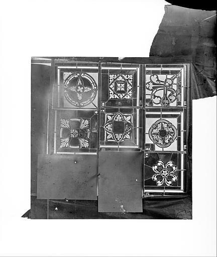 Cathédrale Saint-Jean Vitrail de Lazare : Fragments d'ornementation, ,