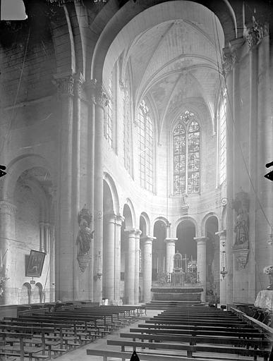 Eglise Saint-Jean de Montierneuf Vue intérieure du choeur, Gossin (photographe),