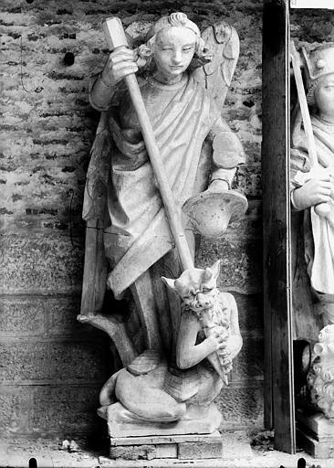 Cathédrale Notre-Dame Pignon du bras nord du transept, saint Michel, Lajoie, Abel,
