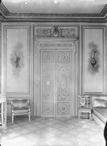 Palais de l'Elysée Salon d'argent, porte, au sud, Durand, Eugène (photographe),