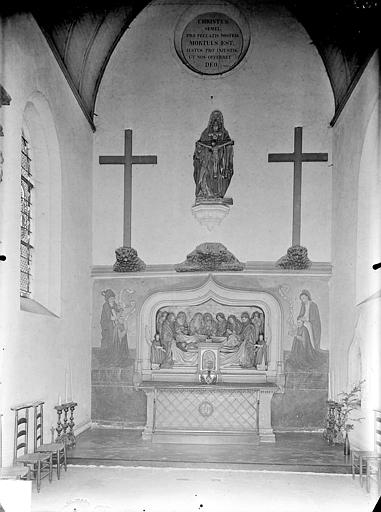 Hôpital général Chapelle Sainte-Croix, monument funéraire : Mise au tombeau du Christ (ensemble), Gossin (photographe),