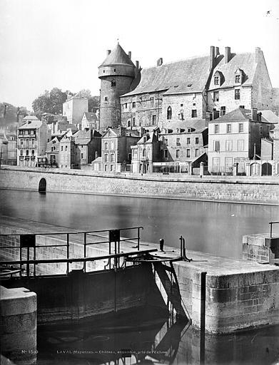 Château Vieux Vue générale prise de l'écluse, Mieusement, Médéric (photographe),