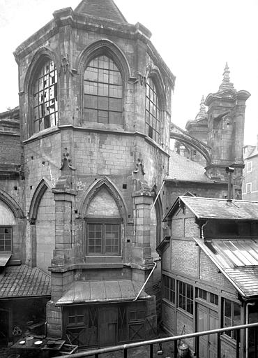 Eglise près de la halle aux blés Abside, côté est, Durand, Jean-Eugène (photographe),