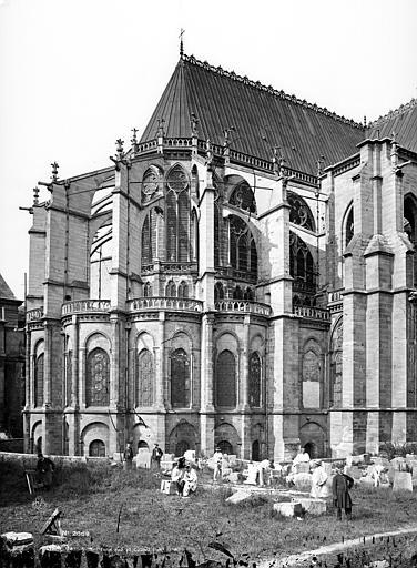 Basilique Saint-Denis Abside, côté nord-est, Mieusement, Médéric (photographe),