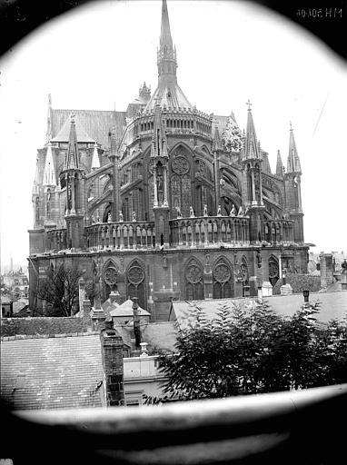 Cathédrale Notre-Dame Abside, prise du lycée de Jeunes-Filles, Lajoie, Abel,