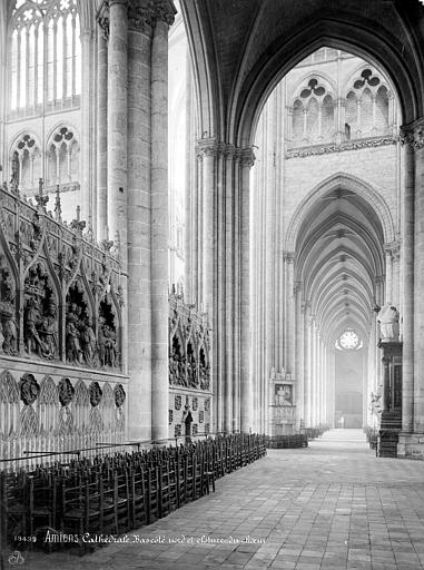 Cathédrale Notre-Dame Vue intérieure du bas-côté nord vers l'ouest et clôture du choeur, Mieusement, Médéric (photographe),