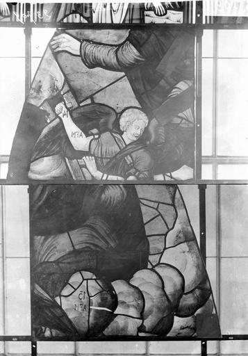 Eglise Vitraux, panneaux 7  et 14 de la baie G, Nadeau, H. (photographe),