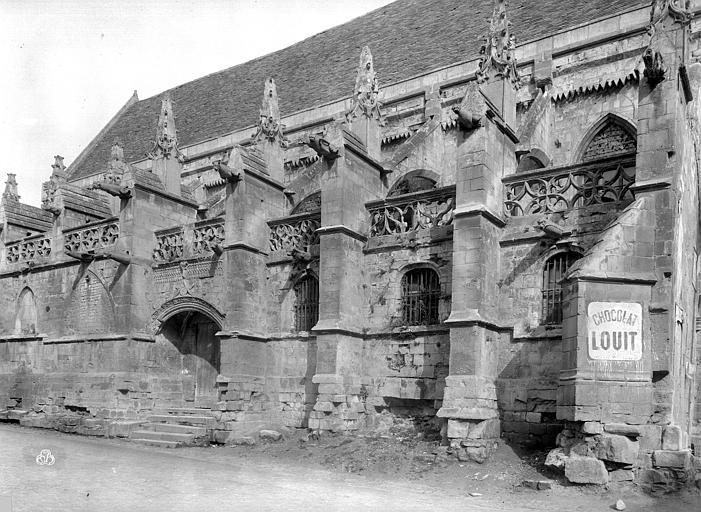 Eglise Saint-Gilles Façade sud, Durand, Jean-Eugène (photographe),