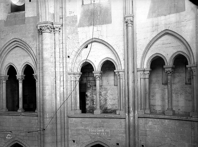 Abbaye Saint-Nicolas (ancienne) Eglise : Triforium, Durand, Eugène (photographe),